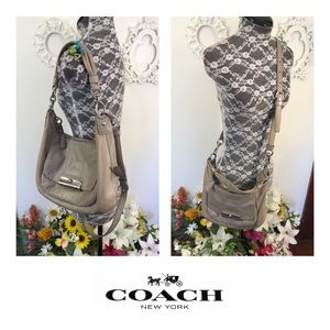 Coach Gray Leather Crossbody Bag